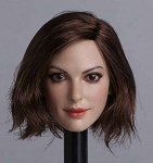 Nicole Female Head Sculpt (Short Brunette Hair)<BR>PRE-ORDER: ETA Q2 2018