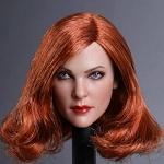 Gabrielle Female Head Sculpt (Copper Red)<BR>PRE-ORDER: ETA Q4 2018