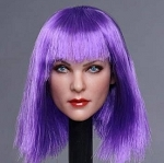 Gabrielle Female Head Sculpt (Purple)<BR>PRE-ORDER: ETA Q4 2018