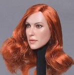 Kacee Female Head Sculpt (Copper Red)<BR>PRE-ORDER: ETA Q4 2018