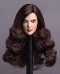 Veronica Female Head Sculpt (Long, Wavy Brunette Hair)