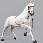 Horse with Saddle Set (White)<BR>PRE-ORDER: ETA Q1 2019
