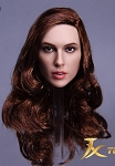 Danielle Female Head Sculpt (Long, Wavy, Red Hair)<BR>PRE-ORDER: ETA Q1 2018