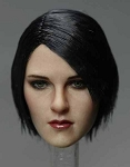 Alicia Female Head Sculpt (Short Black Hair)