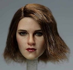 Bethany Female Head Sculpt (Mid-Length Brunette Hair)