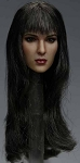 Elise Female Head Sculpt (Long Black Hair)<BR>PRE-ORDER: ETA Q1 2018
