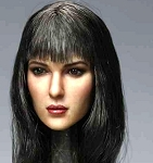 Elise Female Head Sculpt (Long Black Hair)<BR>PRE-ORDER: ETA Q4 2018