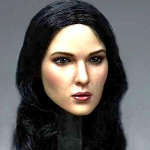 Fairuza Female Head Sculpt (Long Black Hair)<BR>PRE-ORDER: ETA Q4 2018