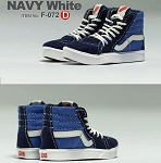 Sk8 Shoes - Blue & White
