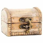 Wooden Trunk (Small, Weathered White)