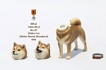 Shiba Inu Dog (Brown) with Two Head Sculpts<BR>PRE-ORDER: ETA Q4 2018