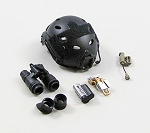 FAST Helmet w/Night Vision Gear & Accessories