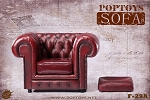 British Single Sofa - Red