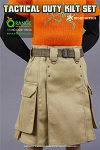 Tactical Duty Kilt<BR>Outfit Set (Orange/Tan)
