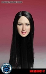 Ursula Head Sculpt (Open Smiling Mouth, Long Black Hair)
