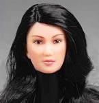 Female Head <br> Long Wavy Hair <br>(Version 3)