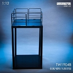 Industrial Floor/Stair Set B (1:12 Scale)<BR>PRE-ORDER: ETA Q3 2019