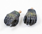 Black Oakley Style Tactical Gloved Hands<BR>