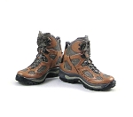 Brown/Gray Hiking Boot/Feet (w/peg slot, no pegs)