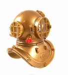 Diver: Helmet plus Inner & Outer Collar w/Red Knob
