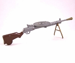 Vintage Russian Machine Gun with Disc and Bipod