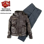 Ghost Protocol Leather Jacket Set<BR> (Brown - Worn Look)