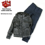 Ghost Protocol Leather Jacket Set<BR> (Black - Worn Look)<BR>