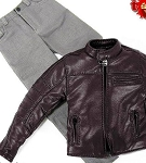 Sands Leather Jacket Set (Tobacco)
