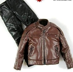'Leather' Outfit:  Jacket (Brown) & Pants (Black)