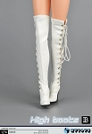 Over the Knee Boot/Feet<BR>(White)