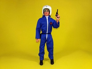 Blue Pilot Jumpsuit (White Zipper)