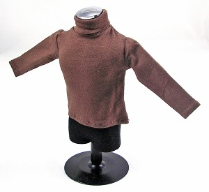 Turtleneck Sweater, Dark Brown