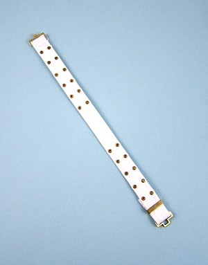 Belt: White Web with Grommets