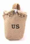 Canteen & Cover: US Tan Cover, Silver Canteen