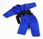 Short Sleeve/Leg Karate Outfit Set (Blue)