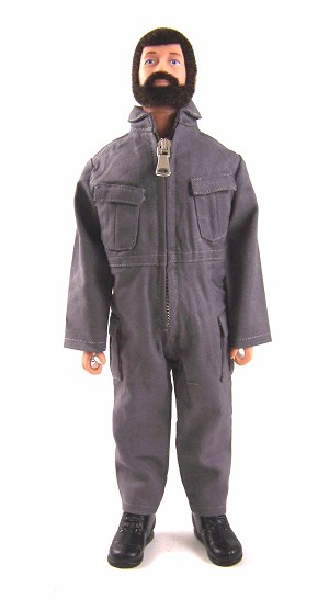 Pocketed Jumpsuit - Gray