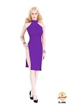Split Skirt Dress Set (Purple)