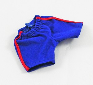 Shorts - Athletic Style (Blue, Red Stripe)