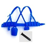 Web Gear: Blue with Black Bayonet Sheath