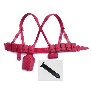 Web Gear: Red with Black Bayonet Sheath