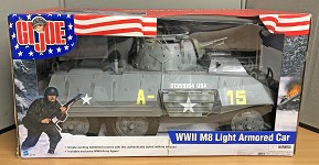 WWII M8 Light Armored Car w/Figure