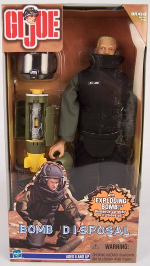 Bomb Disposal with 'Exploding' Bomb (Cauc.)