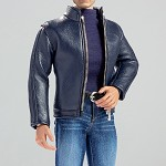 Men's 'Leather' Jacket Outfit<BR>Blue