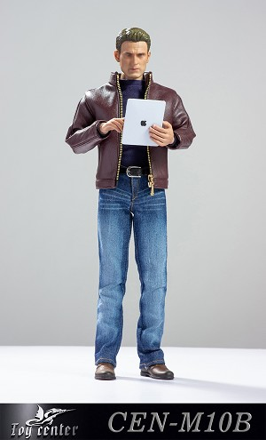 Men's 'Leather' Jacket Outfit<BR>Maroon
