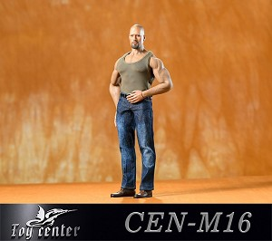 Tank Top/Jeans Outfit Set for Muscular Body (OD Green)