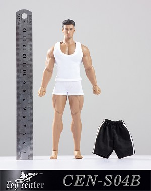 Muscle Tee & Shorts Set <br>(White 1:12 Scale)<BR>PRE-ORDER: ETA Q4 2019