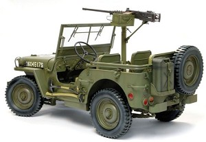 1/4-Ton 4x4 Truck w/M2 .50-cal Machine Gun Model Kit<BR>