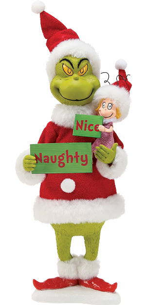 1:6 Scale Grinch<BR>(Naughty or Nice) Figurine<BR>PRE-ORDER: ETA Dec. 2019