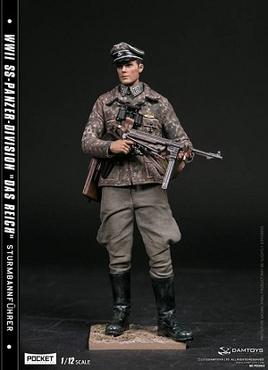 WWII German Panzer Division Major<BR>(1:12 Scale Pocket Elite)<BR>PRE-ORDER: ETA Q4 2018