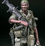 US Army 25th Infantry Division M60 Gunner (Vietnam)<BR>(1:12 Scale Pocket Elite)